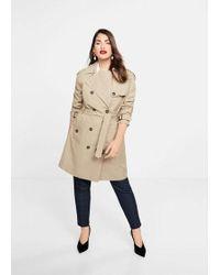 facb9720cc0f Mango - Classic Cotton Trench Coat Medium Brown - Lyst
