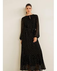 Mango - Lurex Jacquard Dress - Lyst