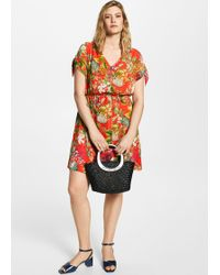 Violeta by Mango - Tropical Print Dress - Lyst