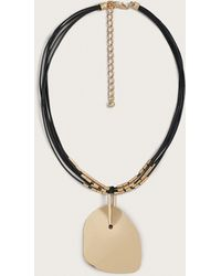 Violeta by Mango - Geometric Pendant Necklace - Lyst