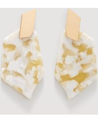 Mango - Tortoiseshell Resin Earrings - Lyst