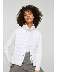 Mango - Quilted Gilet - Lyst