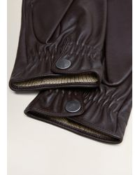 Mango - Leather Breathable Gloves - Lyst