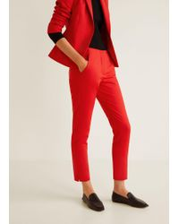 Mango - Straight Suit Trousers - Lyst