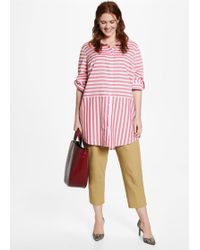 Violeta by Mango - Oversize Striped Blouse - Lyst