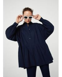 Mango - Oversize Cotton Shirt - Lyst