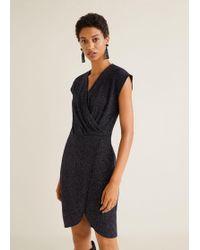 Mango - Metallic Thread Dress - Lyst