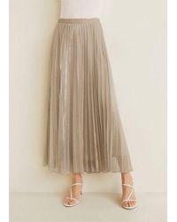 5d07a6d5b Mango Pleated Midi Skirt - Lyst