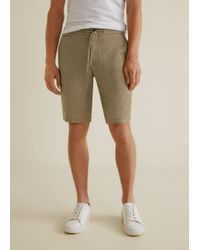 Mango - Linen Chino Bermuda Shorts - Lyst