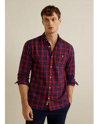 Mango - Regular-fit Checked Flannel Shirt - Lyst
