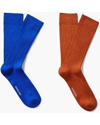 Mango - 2 Pack Colour Socks - Lyst