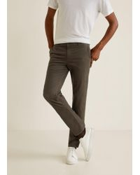 Mango - Structured Regular-fit Trousers - Lyst