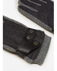 Mango - Contrast Panel Gloves - Lyst