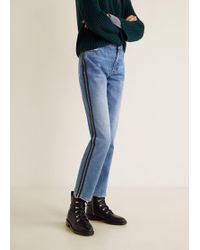 Mango - Contrasting Trims Straight Jeans - Lyst