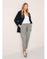 Violeta by Mango - Mini Houndstooth Trousers - Lyst