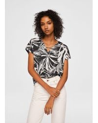 Mango - Combined Printed T-shirt - Lyst