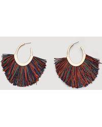 Mango - Fringe Earrings - Lyst