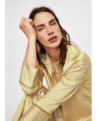 Mango - Printed Pyjama-style Shirt - Lyst