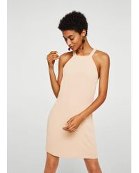 Mango - Cut-out Back Dress - Lyst