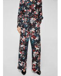 Mango - Floral Print Trousers - Lyst