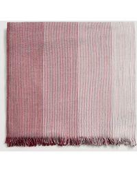 Mango - Striped Textured Scarf - Lyst
