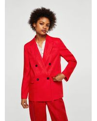 Mango - Structured Linen Jacket - Lyst
