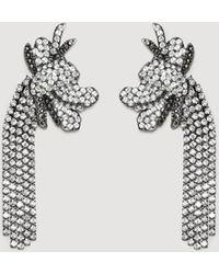 Mango - Rhinestone Pendant Earrings - Lyst