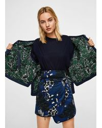 Mango - Blue Floral Print Pure Cotton 'kat' Mini Skirt - Lyst