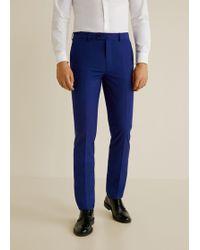 Mango - Slim-fit Patterned Suit Trousers - Lyst