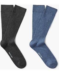 Mango - 2 Pack Ribbed Socks - Lyst