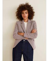 Mango - Houndstooth Suit Blazer - Lyst