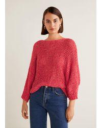 Mango - Open-knit Sweater - Lyst