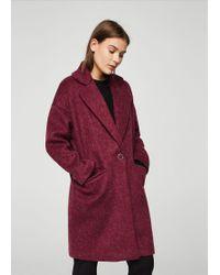 Mango - Mohair Wool-blend Coat - Lyst