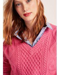 Violeta by Mango - Contrasting Knit Sweater - Lyst