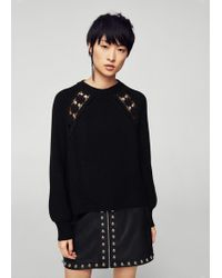 Mango | Open Work-detail Sweater | Lyst