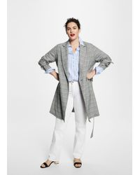 Violeta by Mango - Prince Of Wales Trench - Lyst
