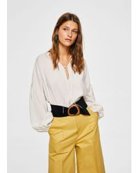 Mango - Puffed Sleeves Blouse - Lyst