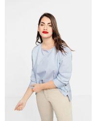 Violeta by Mango - Buttoned Cotton Shirt - Lyst