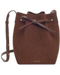 Mansur Gavriel - Suede Mini Bucket Bag - Chocolate - Lyst