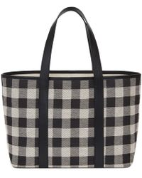 Mansur Gavriel - Checker Canvas Am/pm Tote - Black - Lyst
