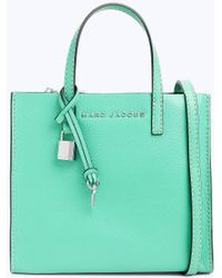 c138421920f6f Lyst - Marc Jacobs The Mini Grind Bag In Slate Calfskin in Gray