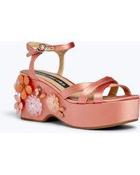 Marc Jacobs - Callie Embellished Wedge Sandal - Lyst