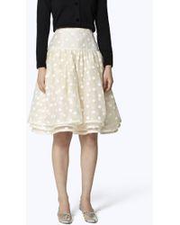 Marc Jacobs - Dot Organza Layered Skirt - Lyst