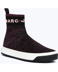 Marc Jacobs - Metallic Logo Dart Sock Sneaker - Lyst