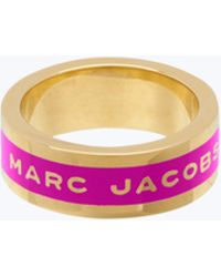 Marc Jacobs - Logo Band Ring - Lyst