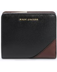 Marc Jacobs - Saffiano Metal Letters Mini Compact Wallet - Lyst