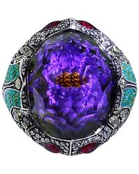 Sevan Biçakci - Carved Waterlily Ring - Lyst