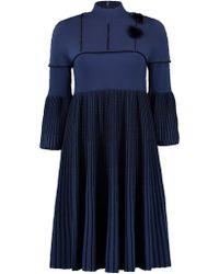Fendi - Pleated Fur Dress - Lyst