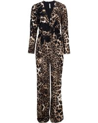 Naeem Khan - Animal Print Jumpsuit - Lyst