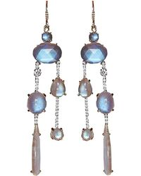 Irene Neuwirth | Rainbow Moonstone Drop Earrings | Lyst